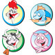 Cow, Pork, Chiken, Fish - GraphicRiver Item for Sale