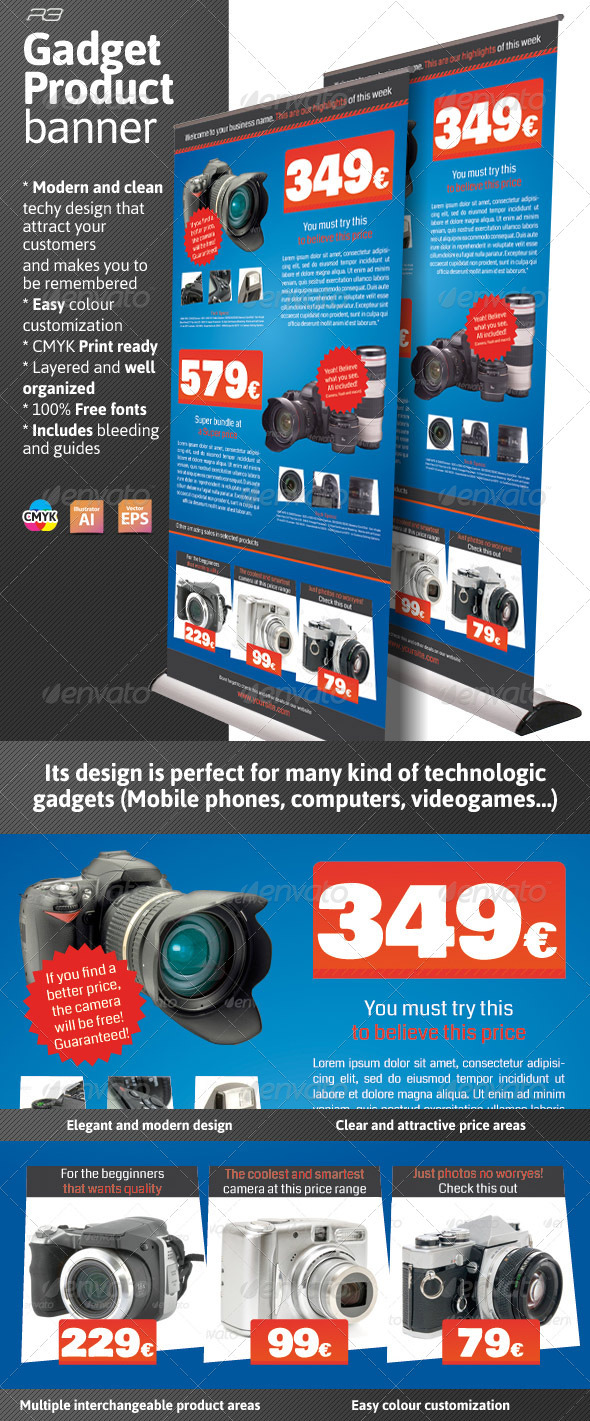 Gadget Product Banner - Signage Print Templates