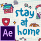 Doodle Background and Frame - Stay At Home - VideoHive Item for Sale