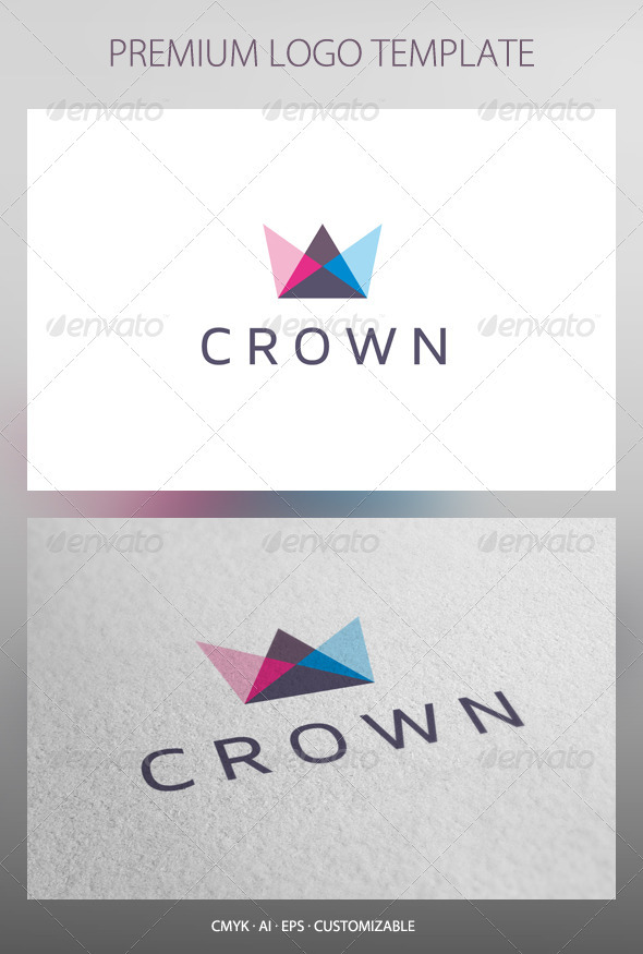 Crown Logo Template - Objects Logo Templates