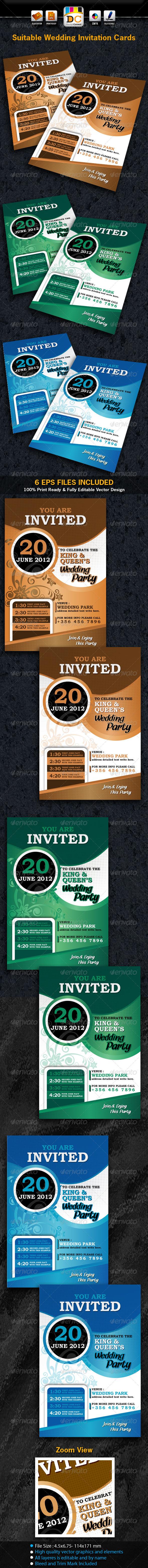 Suitable Wedding/Marriage Invitation Card Sets - Weddings Cards & Invites