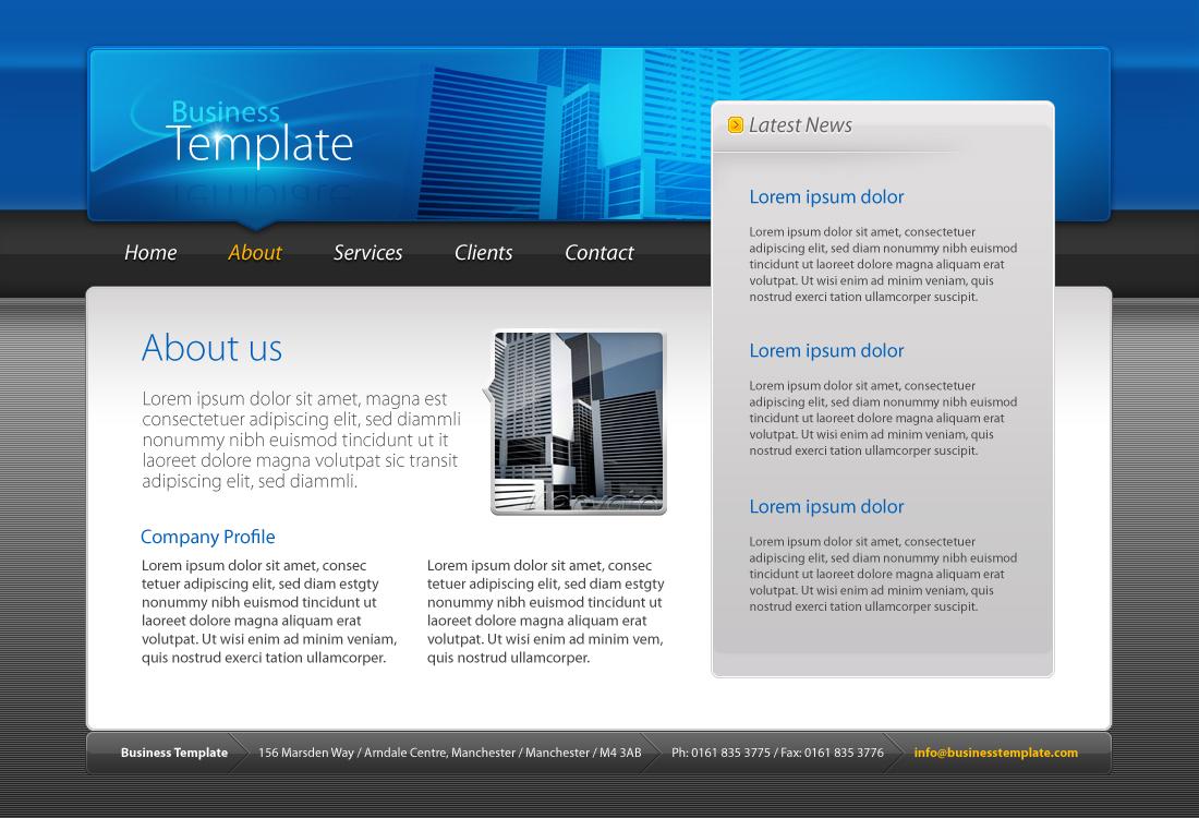 Business Template #01 HTML+CSS+PSD by kaisersosa | ThemeForest