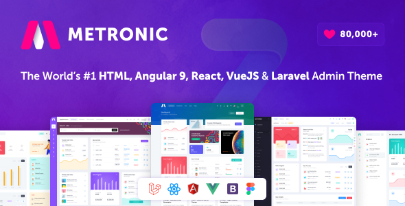 Metronic - Bootstrap 4 HTML, React, Angular 9, VueJS & Laravel Admin Dashboard Theme Nulled