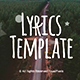 Lyrics Template - VideoHive Item for Sale