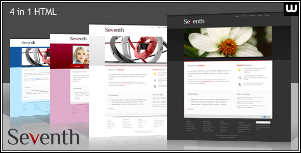 Seventh – Portfolio and Business HTML Template