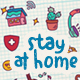 Doodle Background - Stay At Home - VideoHive Item for Sale
