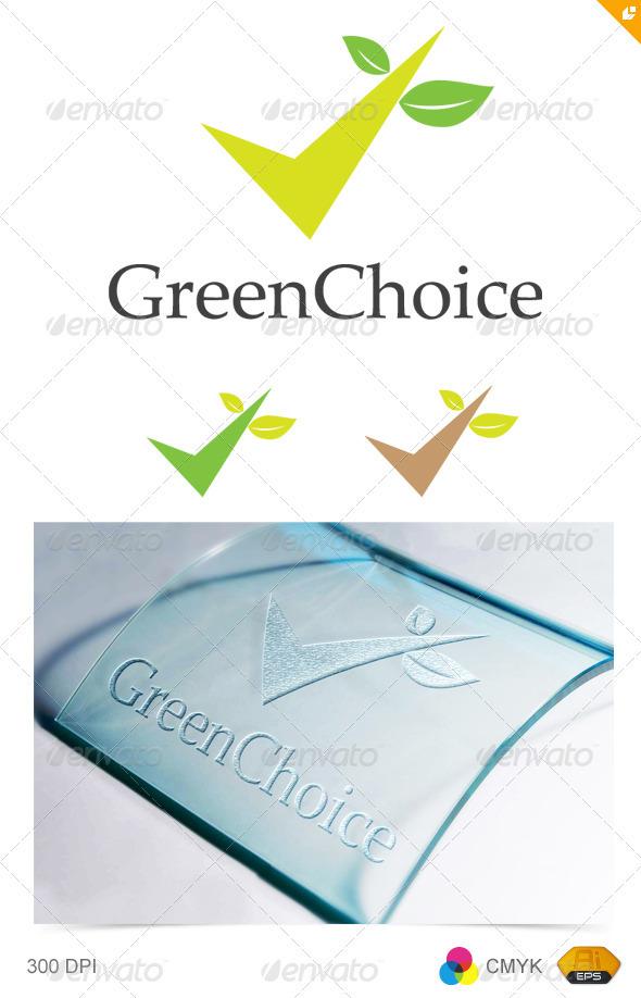 Green Choice Logo - Vector Abstract