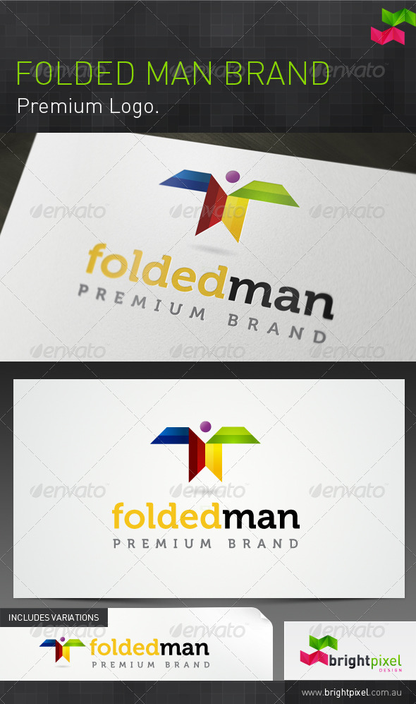 Folded Man Brand - Humans Logo Templates