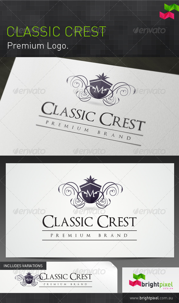 Classic Crest Brand - Crests Logo Templates