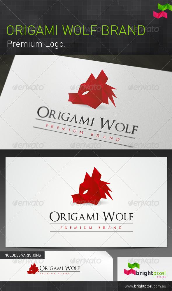 Origami Wolf Brand - Animals Logo Templates