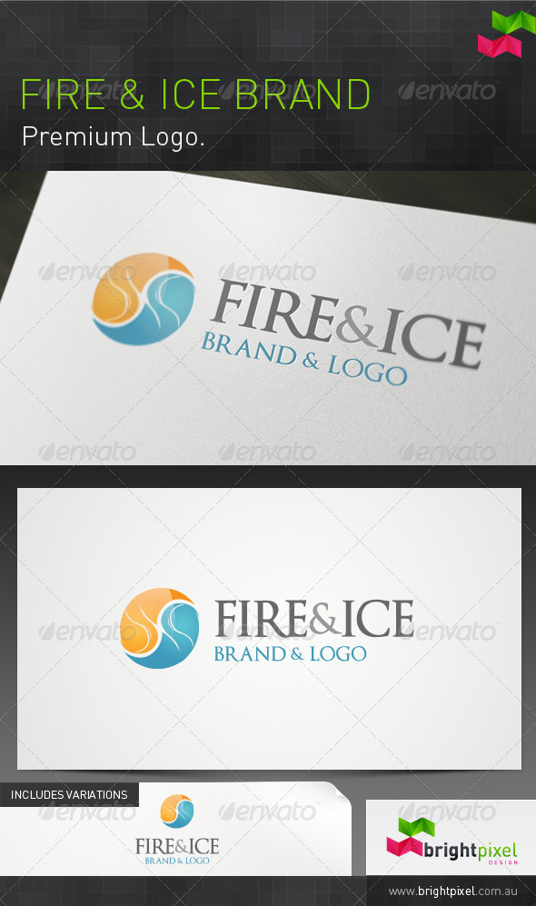 Fire and Ice Brand - Vector Abstract