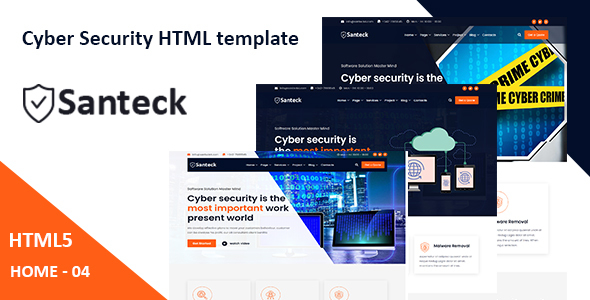 Download Santeck - Cyber Security & It Services HTML Template }}