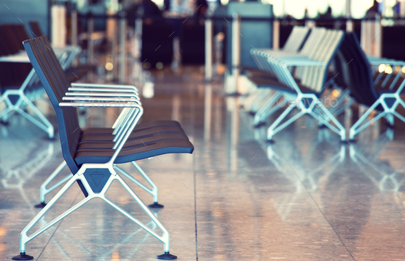 Empty airport - Stock Photo - Images