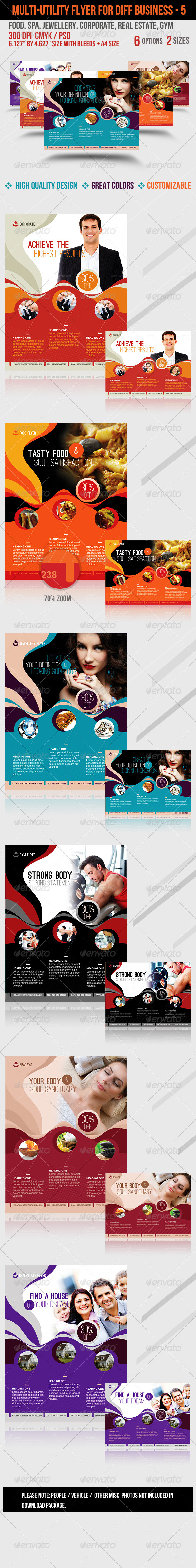 Multi-utility Flyer For Different Business - 5 - Flyers Print Templates