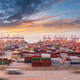 container port in sunset - PhotoDune Item for Sale