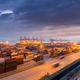 container port in nightfall - PhotoDune Item for Sale