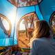 Female Enjoying Camping - PhotoDune Item for Sale