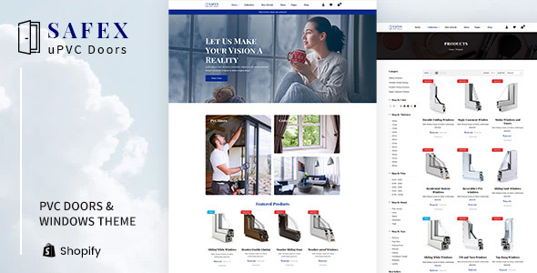 Safex - Hardware Shop, UPVC Furniture Shopify Theme
