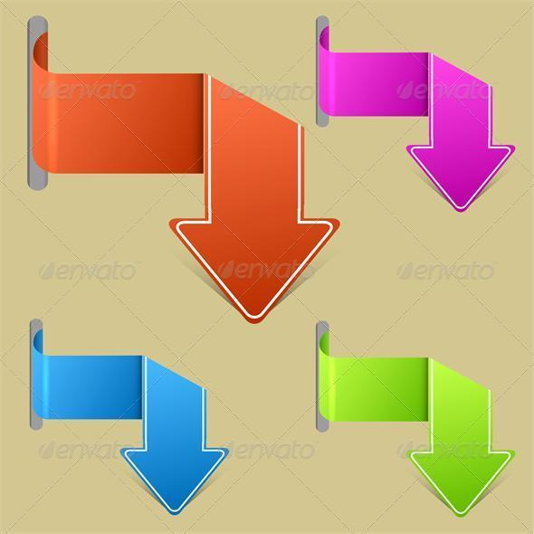 Vector creative arrow stickers set. - Web Elements Vectors