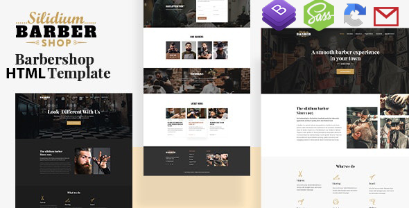 Slidium Barber Shop HTML5 Template with RTL