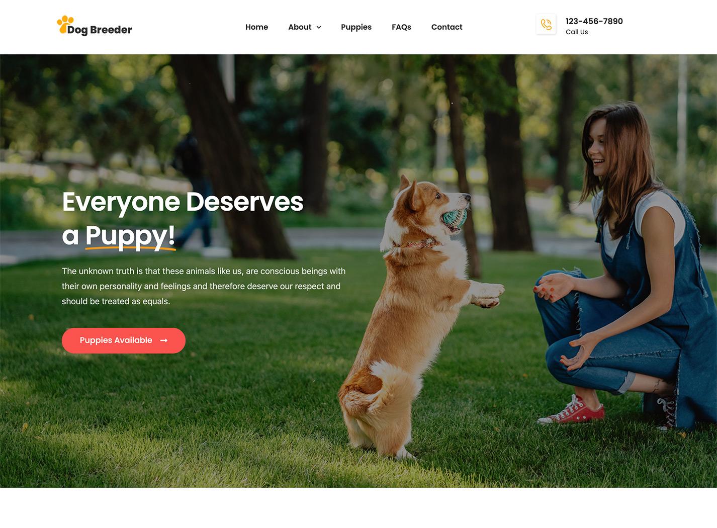 Tailwag - Dog Breeder & Adoption Template Kit by ProgressionStudios