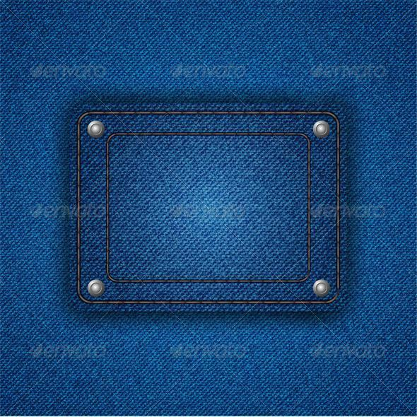 Jeans pocket background. Vector illustration. Eps  - Backgrounds Business