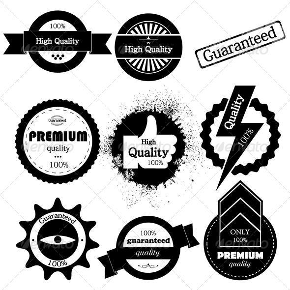 Vector set of high quality or retro  guaranteed  - Miscellaneous Vectors