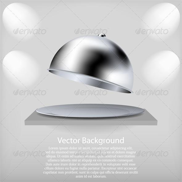 vector shelf with a open tray. - Backgrounds Business
