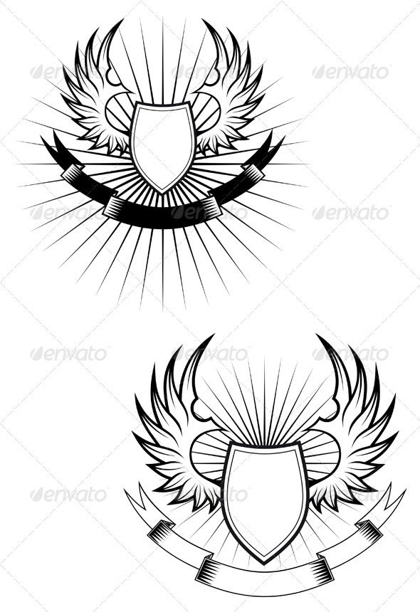 Heraldry shields - Decorative Vectors