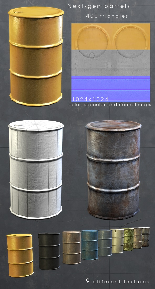 Next-gen Barrels - 3DOcean Item for Sale