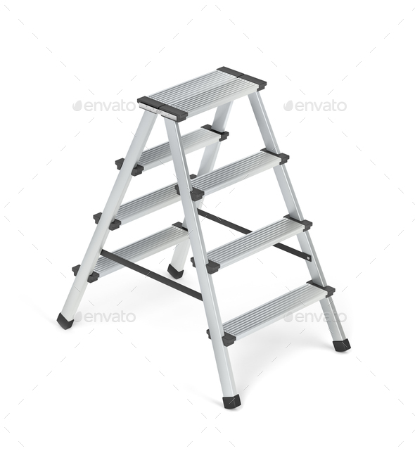 Small aluminum ladder