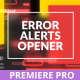 Error Messages Glitch Opener for Premiere - VideoHive Item for Sale