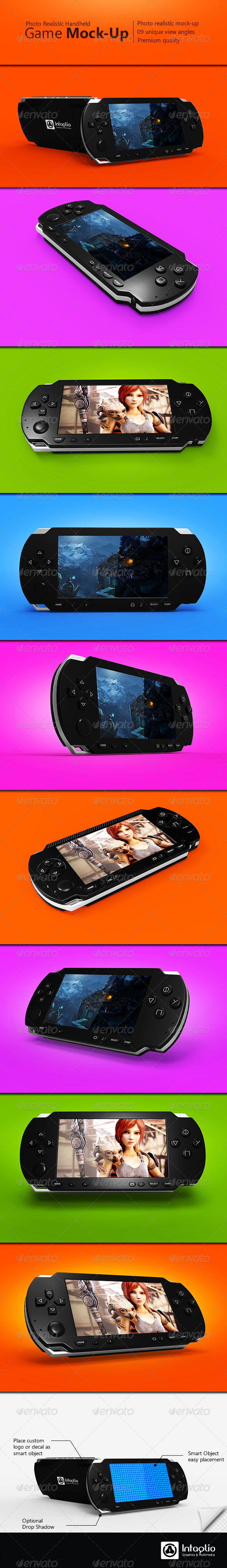 Handheld Game Mock-Up - Mobile Displays