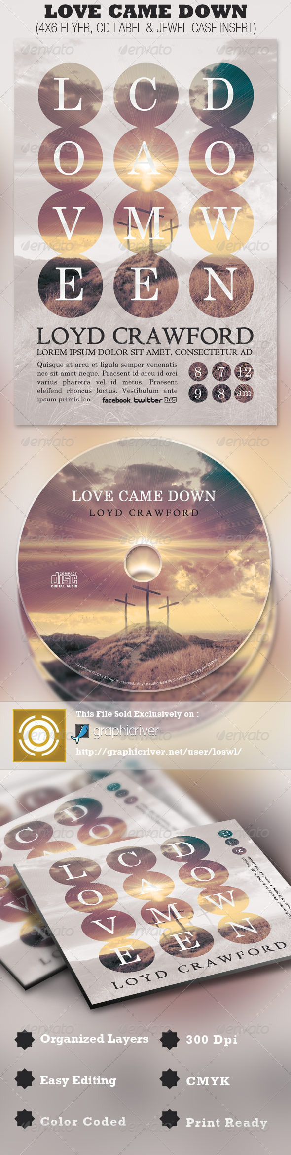 Love Came Down Church Flyer and CD Template - Church Flyers