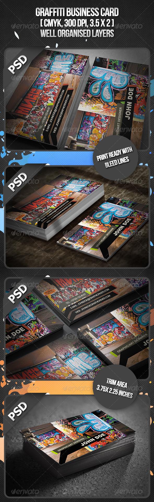 Graffiti Business Card - Business Cards Print Templates