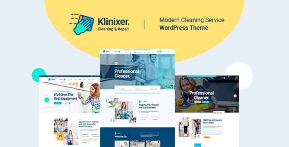 Klinixer - Cleaning Services WordPress Theme