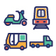 Transport Bold Vector icon Pack
