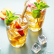 Iced tea with peach and ice cubes - PhotoDune Item for Sale