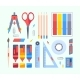 Stationery Tools for Study and Work Set
