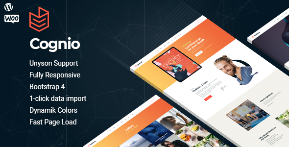 Cognio - Book Promo WordPress theme