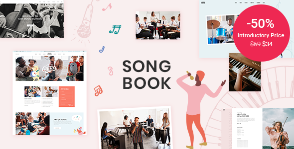 Download SongBook - Music School WordPress Theme }}