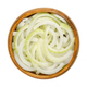 Sliced fresh white onions, cut into rings, in wooden bowl - PhotoDune Item for Sale