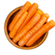 Snack carrots, ready-to-eat, in a wooden bowl - PhotoDune Item for Sale