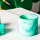 New Marbled geometric succulent planters, turquoise blue - PhotoDune Item for Sale