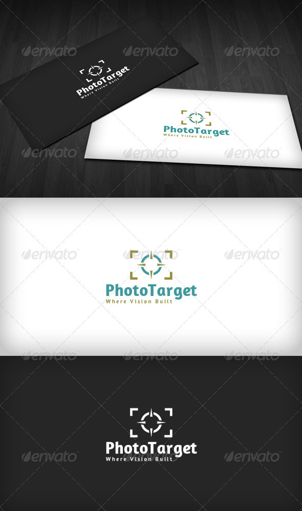 Photo Target Logo - Vector Abstract