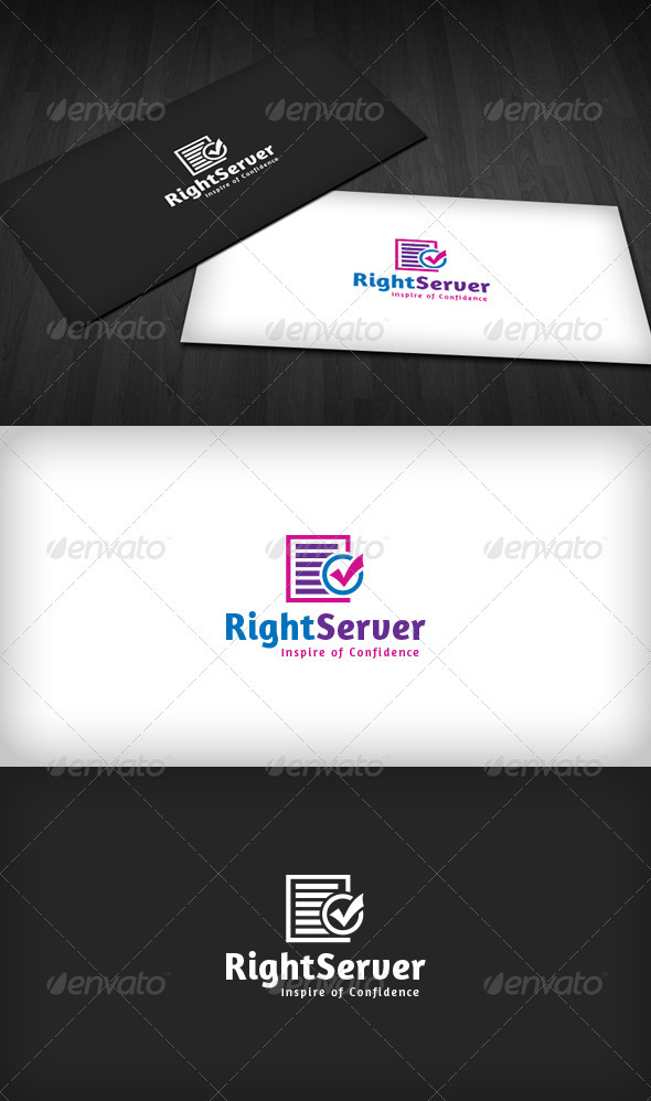 Right Server Logo - Vector Abstract