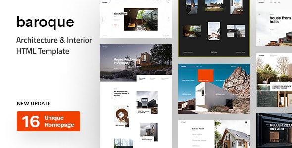 Excellent Baroque - Architecture & Interior HTML Template