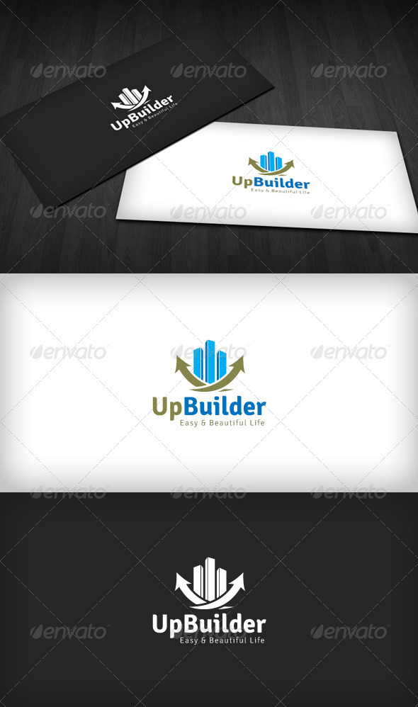 Up Builder Logo - Buildings Logo Templates