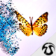 Particles Butterfly Logo 1 - VideoHive Item for Sale