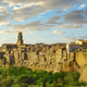 Tuscany, Pitigliano medieval village panorama at sunset. Italy - PhotoDune Item for Sale